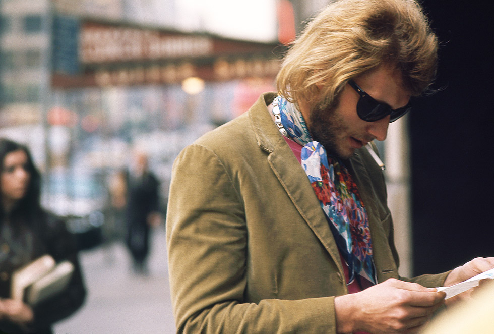 Johnny Hallyday à New York en 1969.