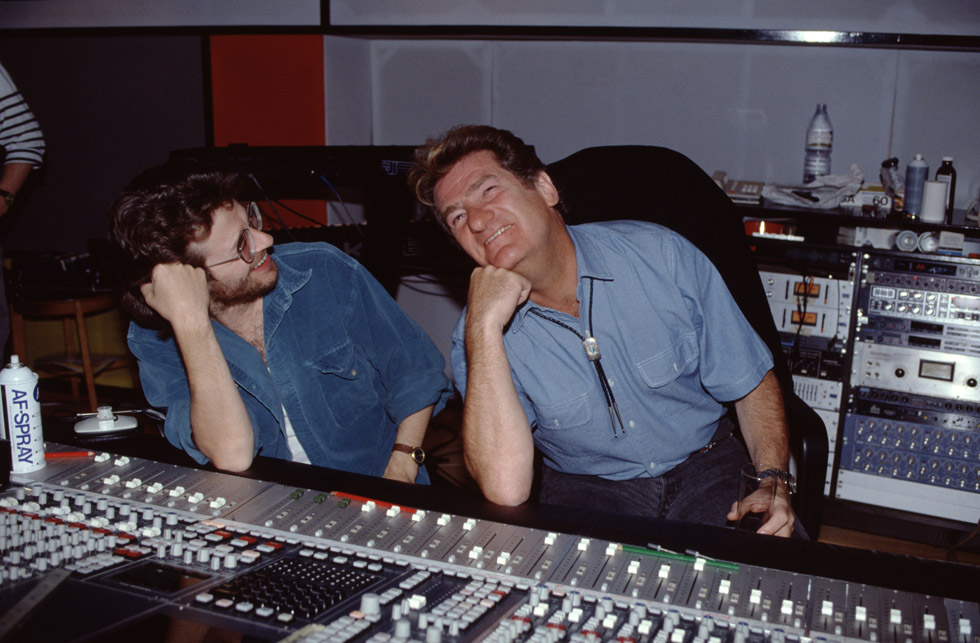 Eddy Mitchell au studio Mayfair à Londres en 1989.