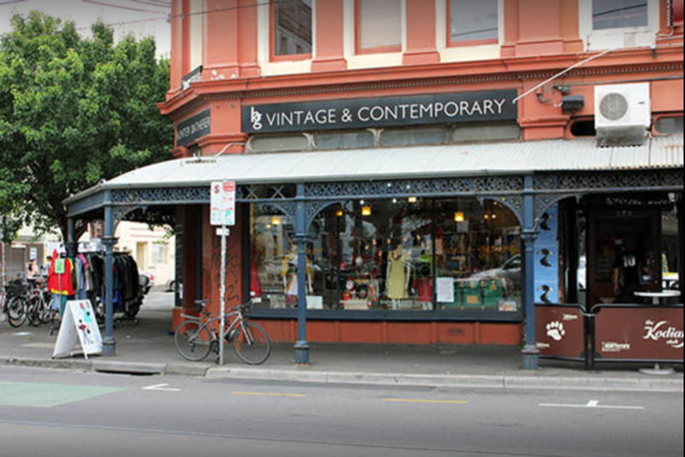 The storefront of the Hunter Gatherer store in Fitzroy