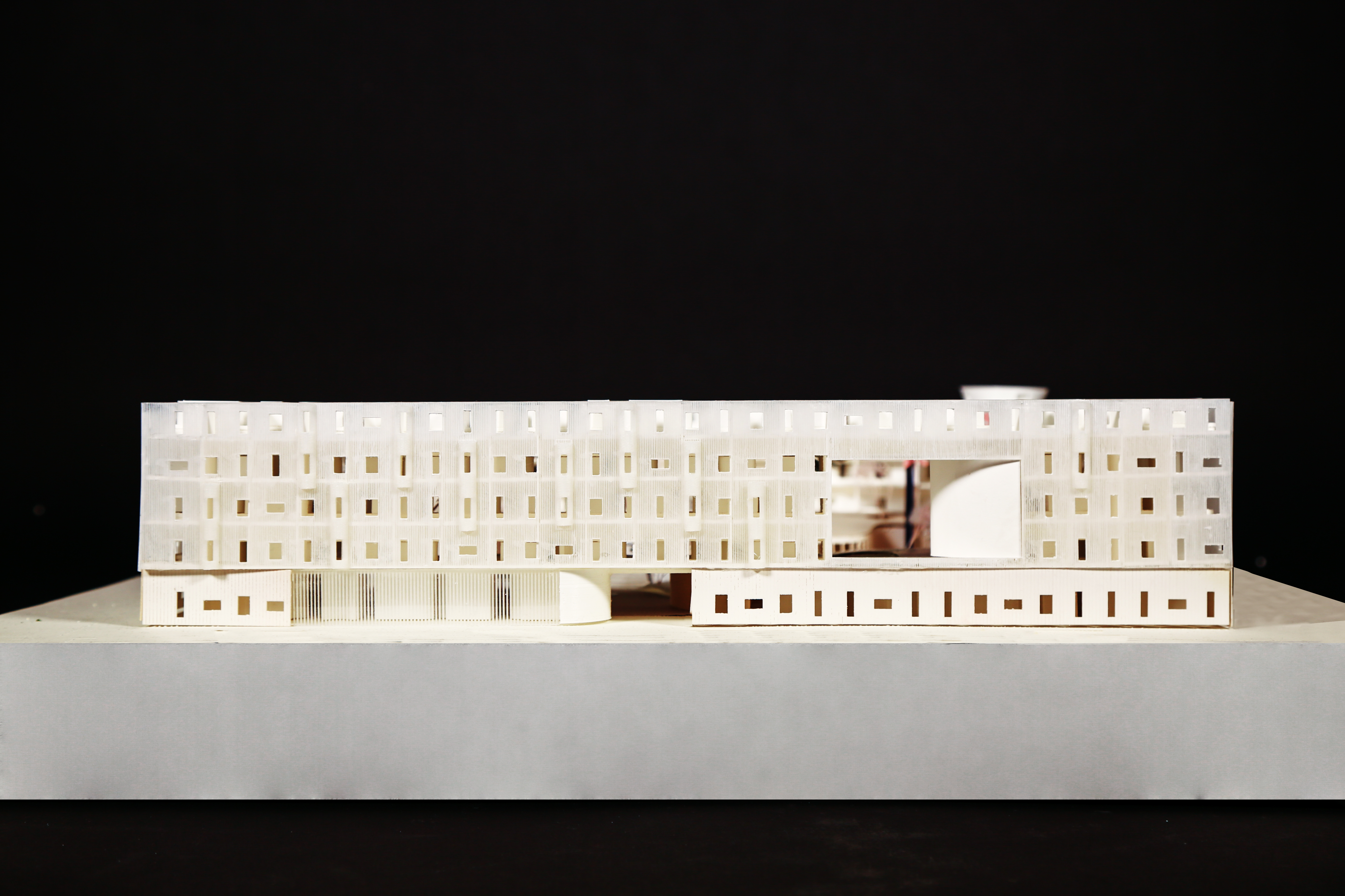 elevation view of housing project model