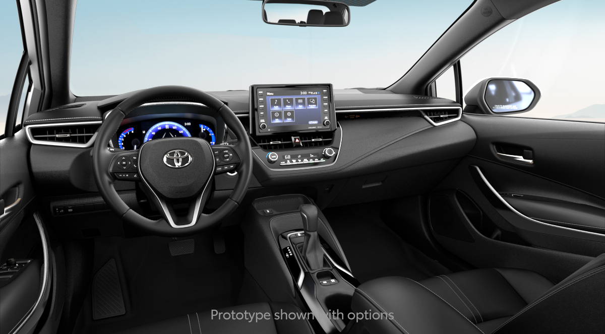 2020 Toyota Corolla XLE in ALL BLACK SOFTEX interior, with code EA20