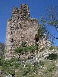 The ruins of Castillo de Belmez de Moraleda, Sierra Magina, Spain