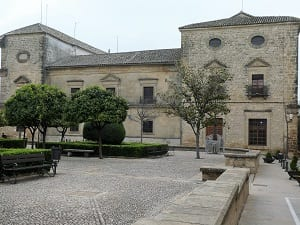 A Renaissance building and square in Ubeda, Spain