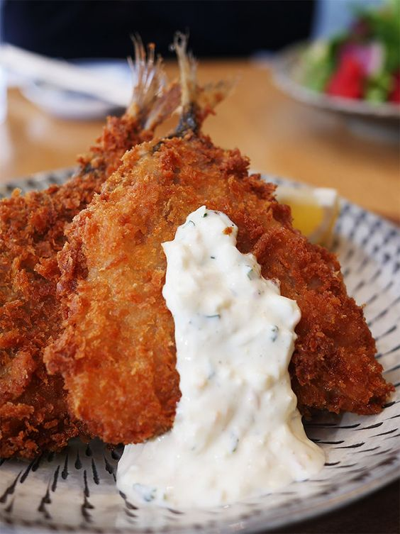 Fried horse mackerel