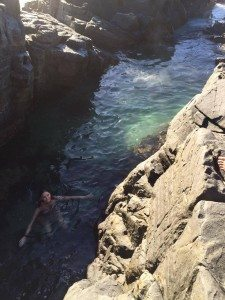 Hangin in the Fairy Pools in Noosa's National Park