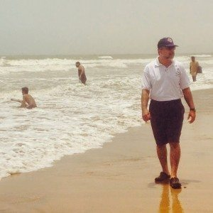That's my Sea Scout Dad guiding his team at Sandspit, Karachi.