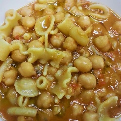 Chickpea traditional soup