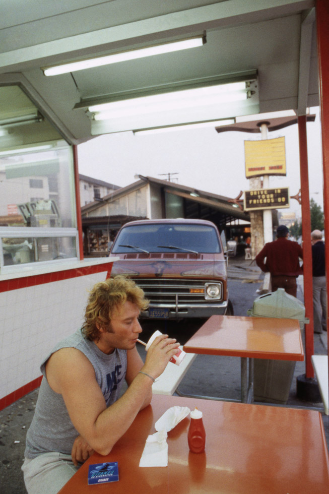Johnny Hallyday à Los Angeles le 1er décembre 1981.
