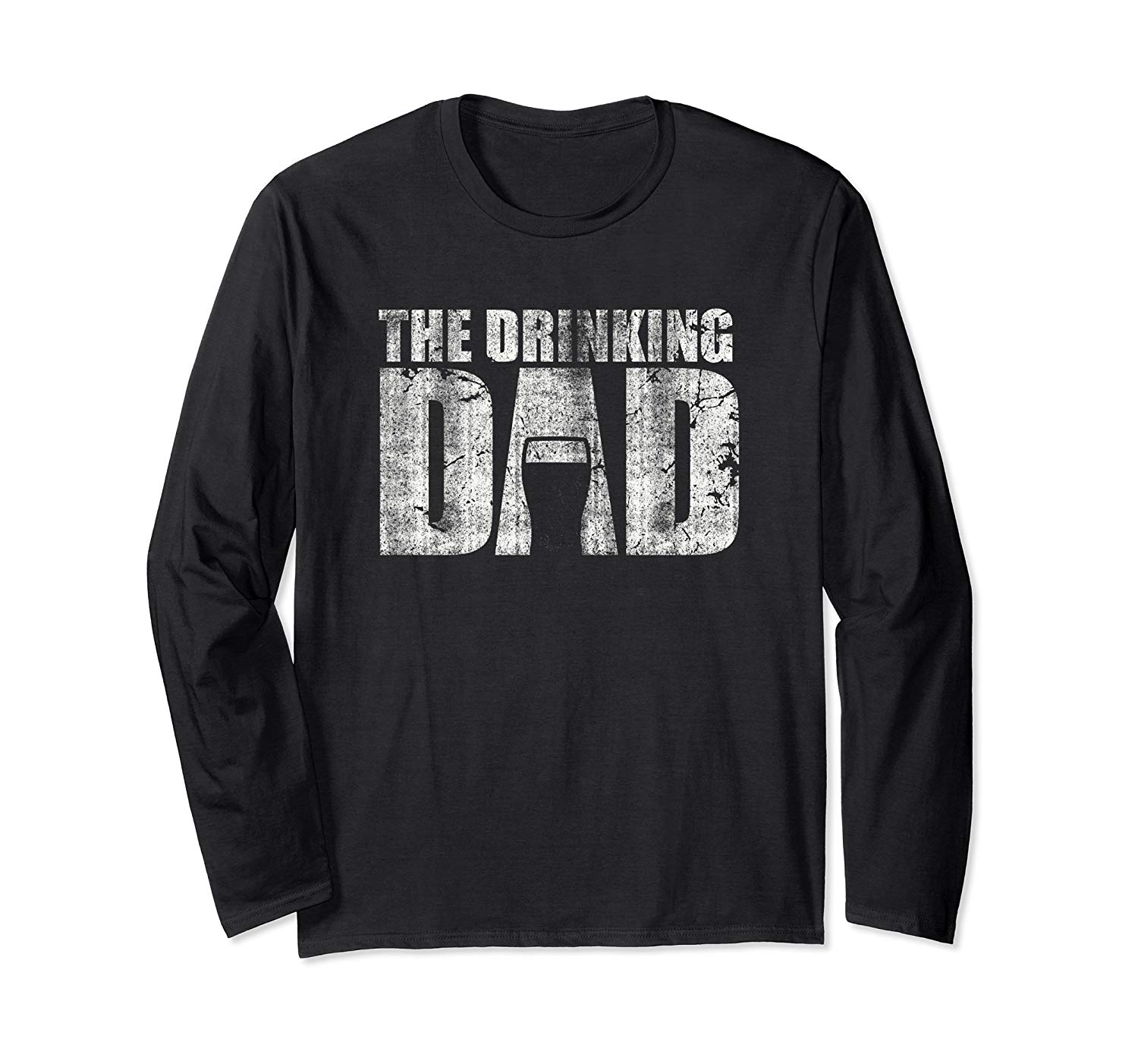 T-Shirt: The Drinking Dad Vatertag Geschenk Design Langarmshirt