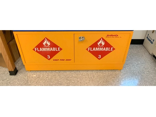 SciMatCo Under-the-Counter Corrosive Cabinet Flammable Cabinet