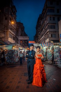 Capture the beautiful moment at Ap Liu Street for our pre-wedding photo. [Photo credit: Martin Chiu]