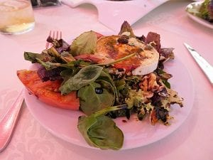 Beautiful salad at Velez de Benaudalla, Andalusia, Spain