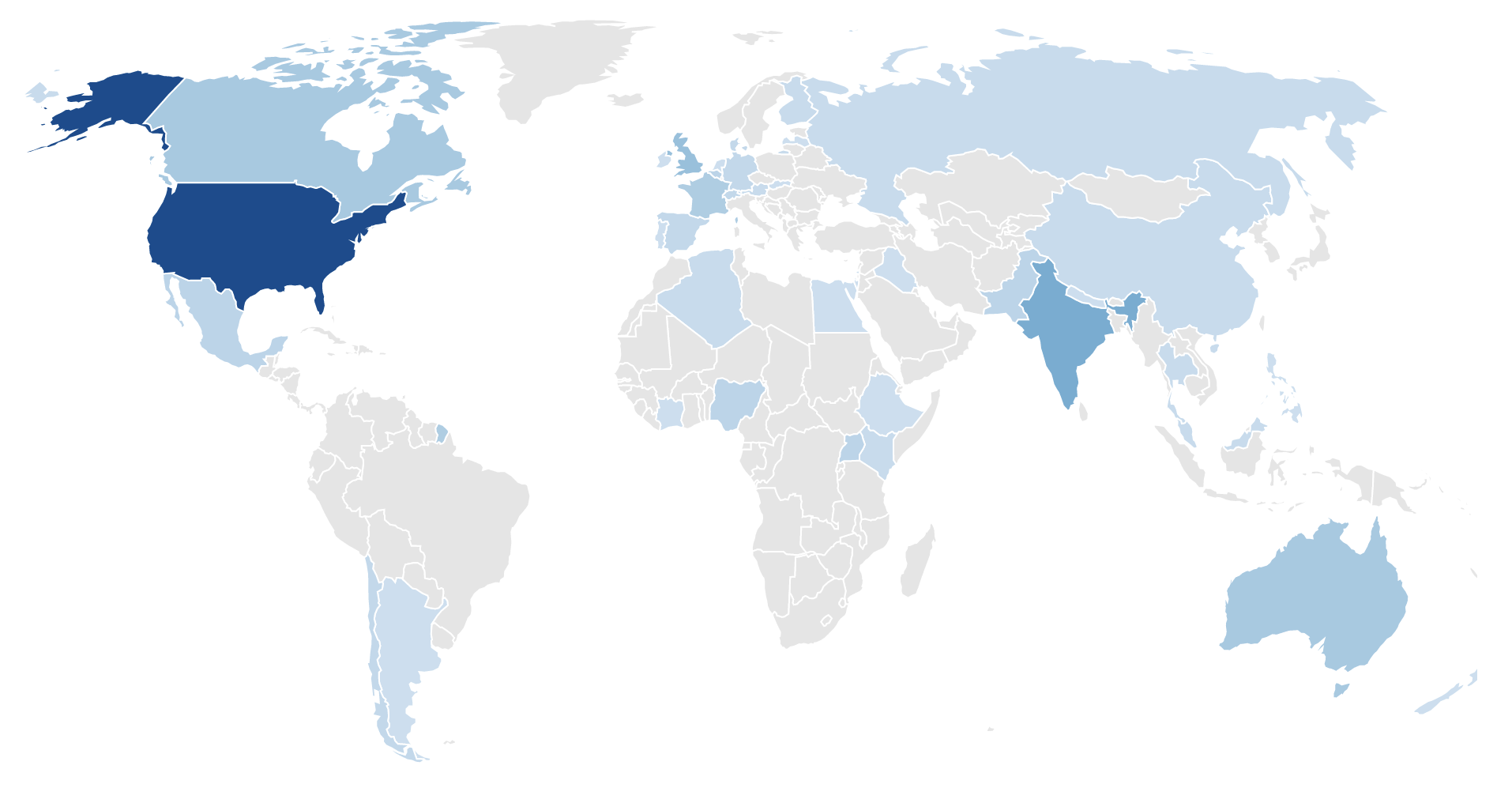 Map of responses