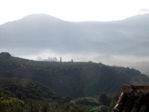Morning misty view from our Cortijo, Sierra Magina, Spain