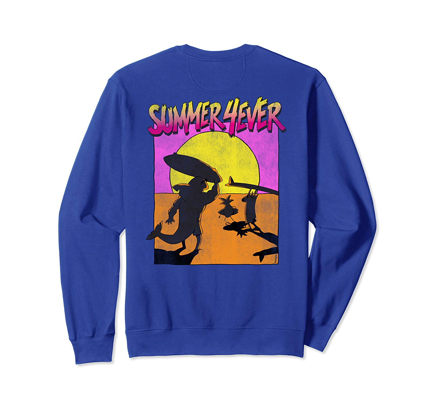 T-Shirt: Summer 4ever Funny 80s Style Surf Design Sweatshirt