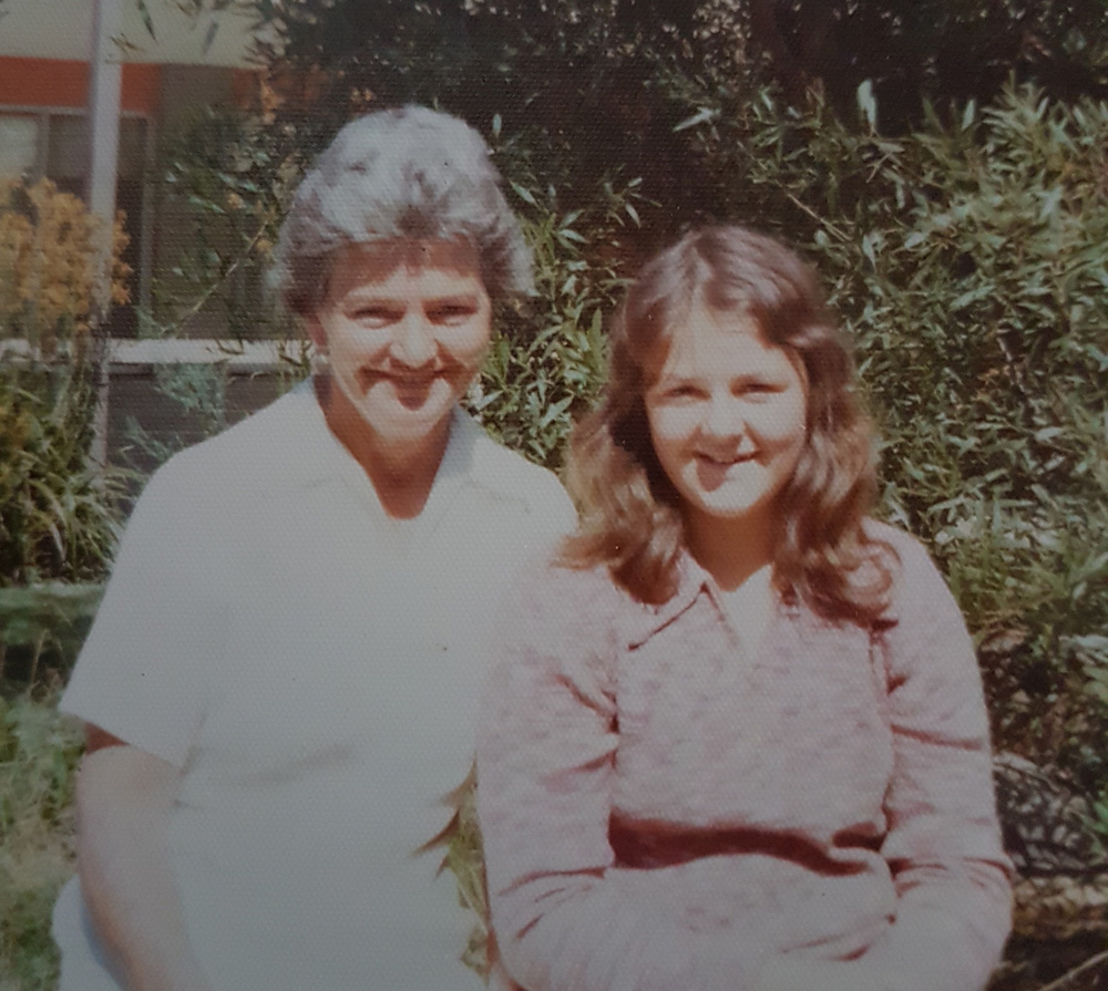 This is a photo of Lisa as a child with her mother