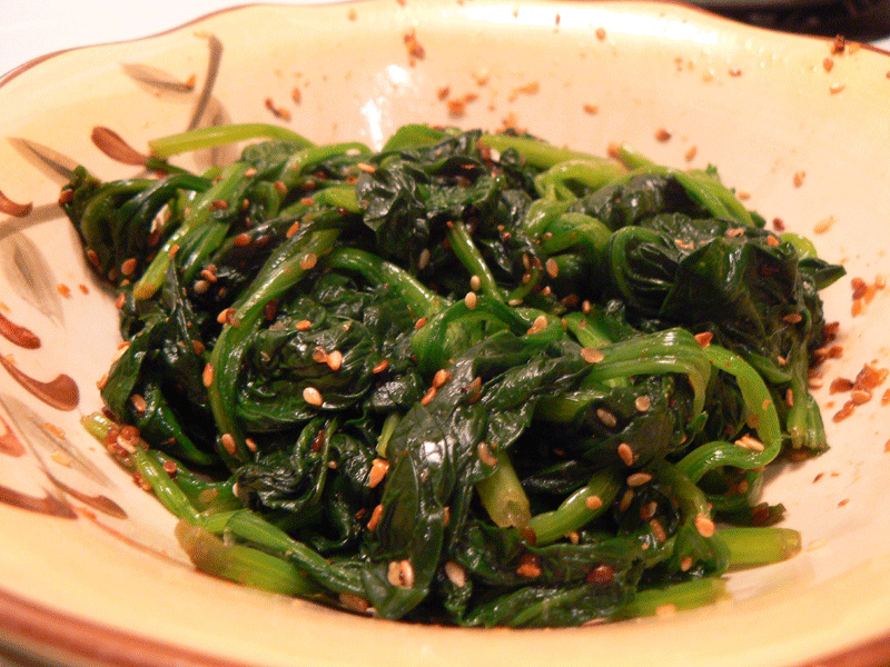Gomaae Sesame Salad/ Spinach with sesame paste