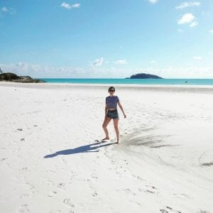 Lolly at Whitehaven Beach