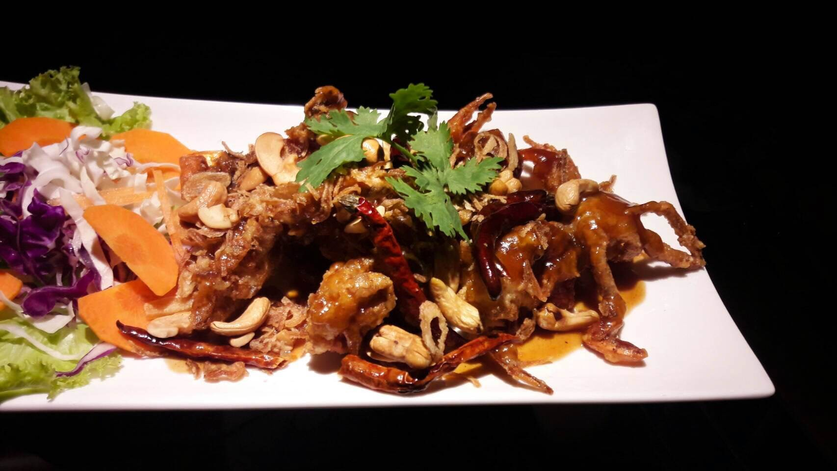 Soft-shell crab with tamarind sauce