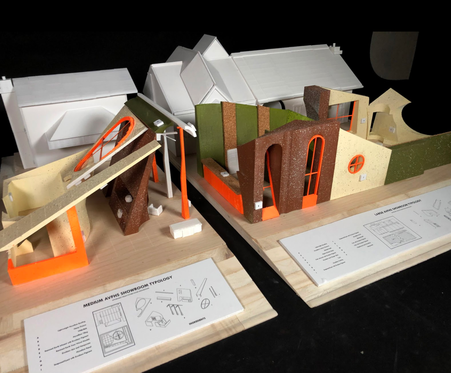 These models were a set of three using plywood as the base milled using a CNC machine