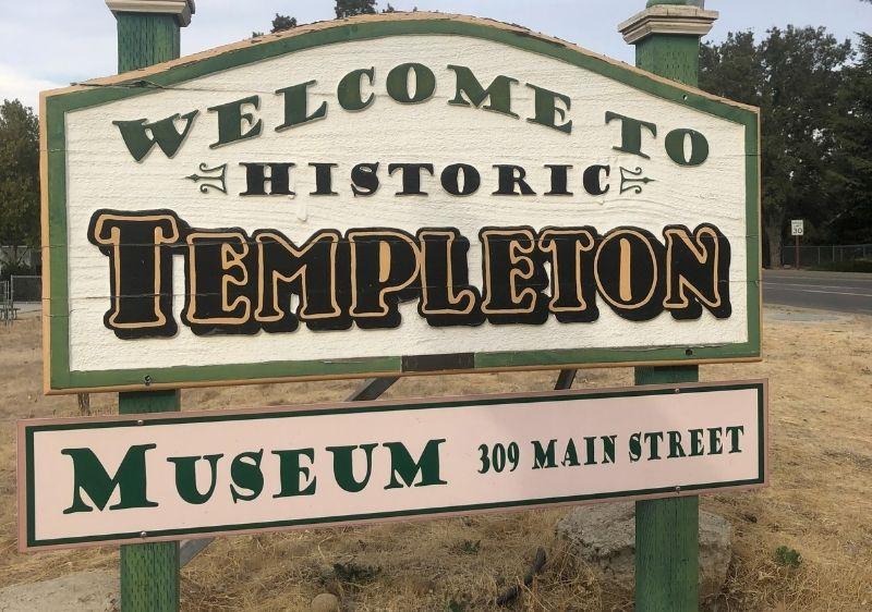 Welcome to Historic Templetion sign