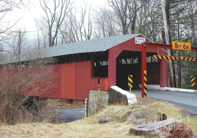 covered bridge with shelter