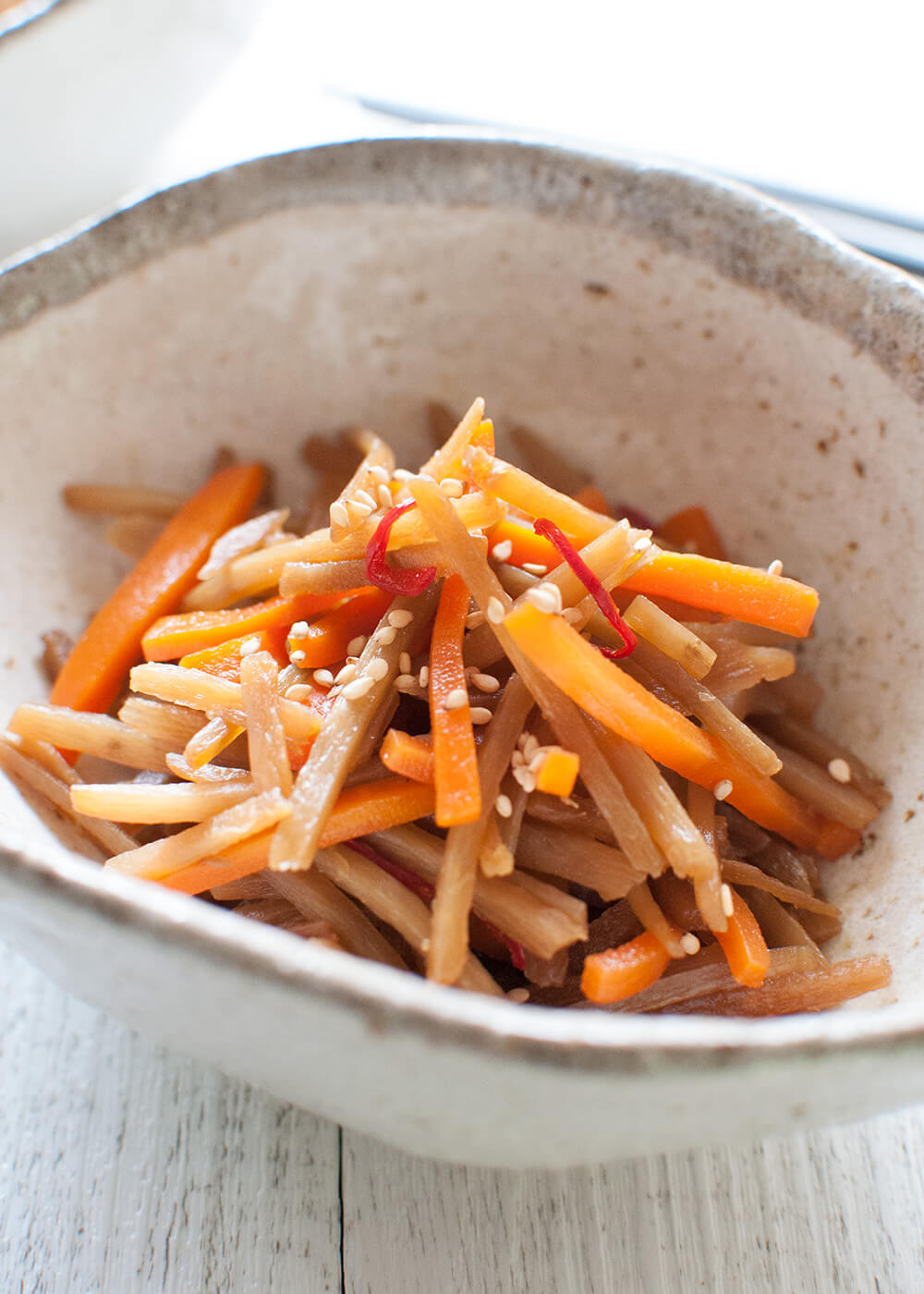 Burdock and Carrot Salad with Sesame Dressing