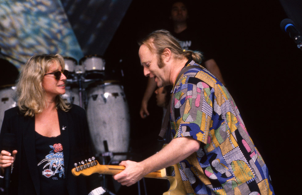 Véronique Sanson et Stephen Stills à Los Angeles en septembre 1993.
