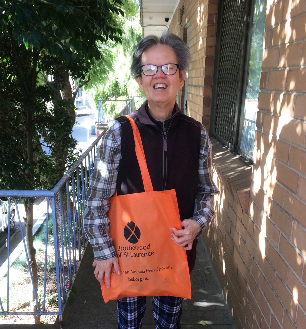 This is a photo of our Aged Care and Coolibah Club Member, Yen