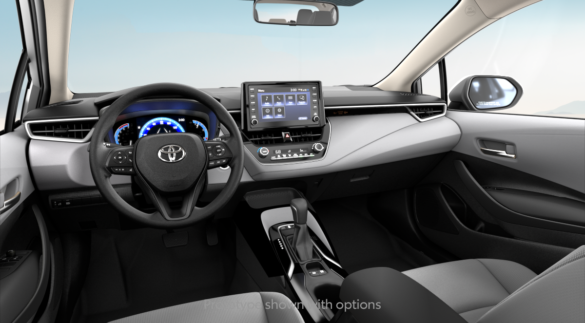 2020 Toyota Corolla Hybrid LE in LIGHT GRAY FABRIC interior, with code FB10