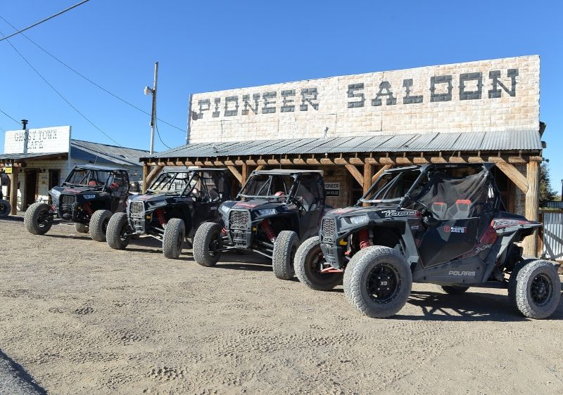 Polaris-RZRs-parked-out-front-the-Pioneer-Saloon