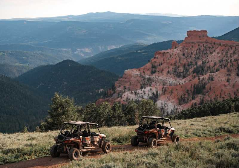 off-road vehicles driving through Cedar Breaks National Monument