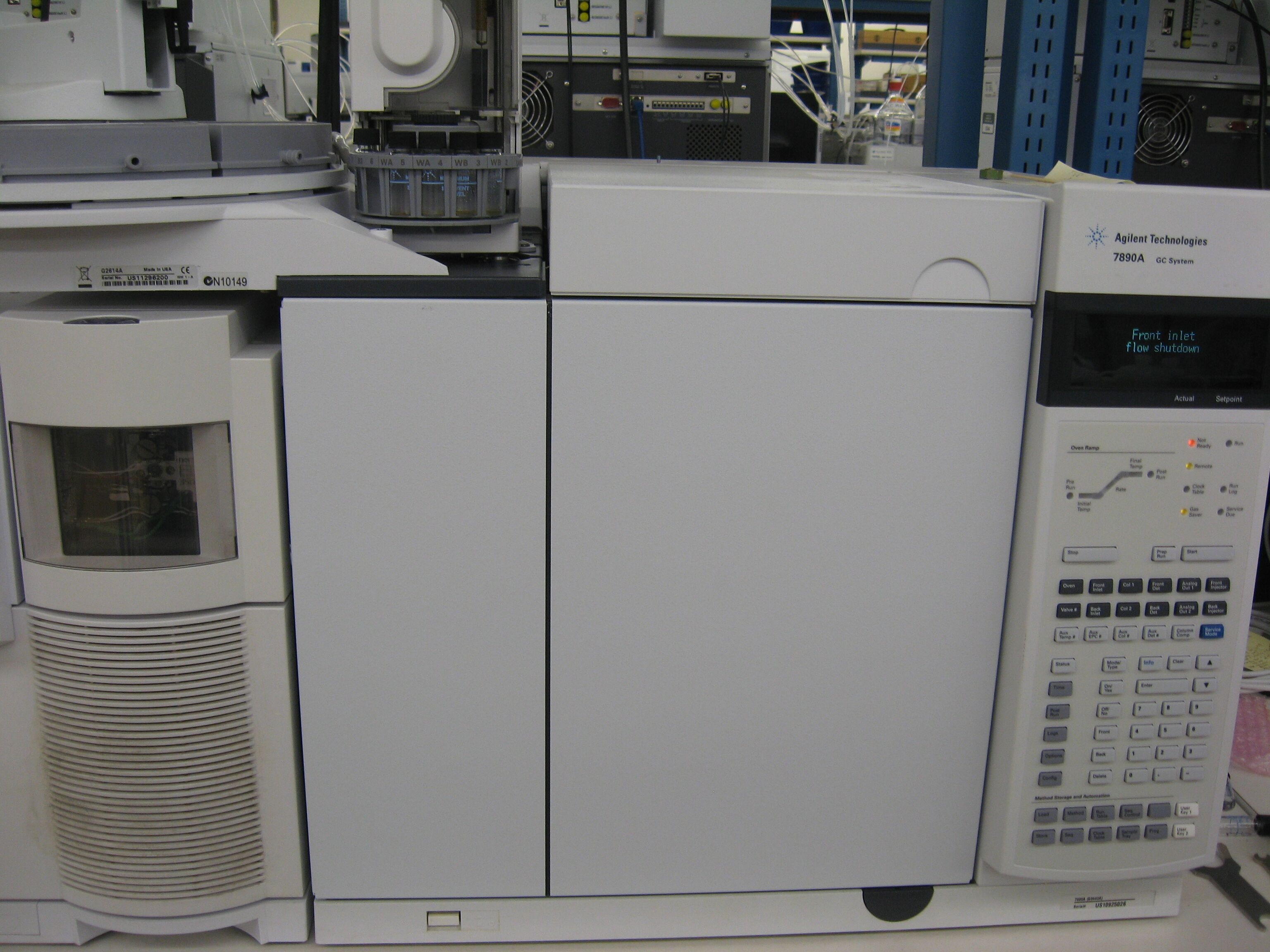Agilent 7890A GC with 5975 Mass Selective Detector GC/MSD