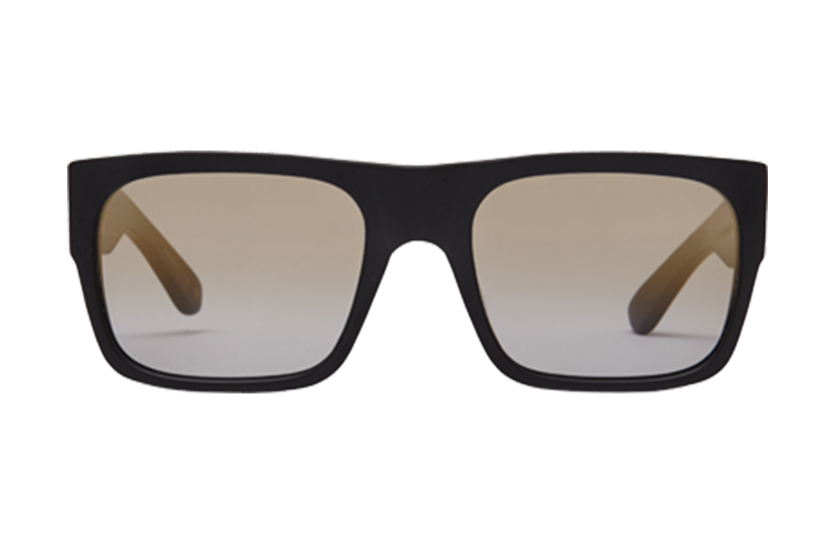 Lunettes de soleil Matador - Coalface Capsule, Oliver Goldsmith, Rectangle , de couleur Noir Marron.