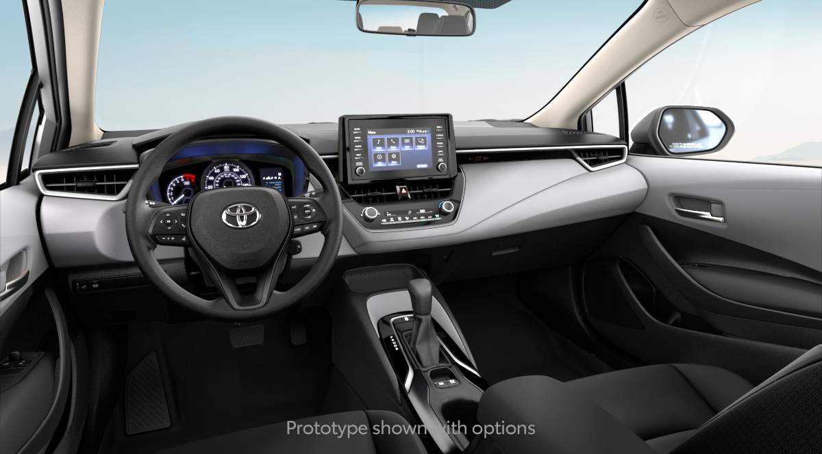 2020 Toyota Corolla L in LIGHT GRAY FABRIC interior, with code FA10