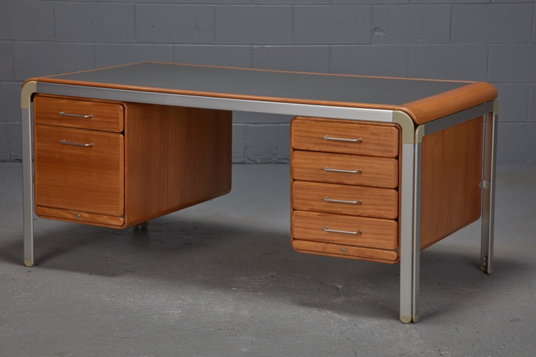 Custom Desk by Arne Jacobsen for the Danish National Bank, 1971