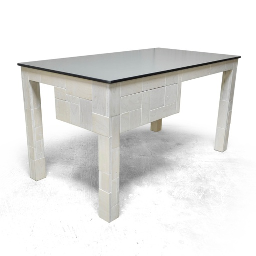 Plywood waste coffee table with drawer nuotrauka