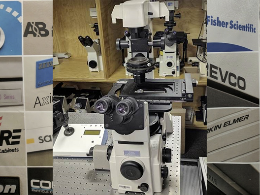 Nikon TE-2000-U Inverted Phase Contrast Fluorescent Microscope