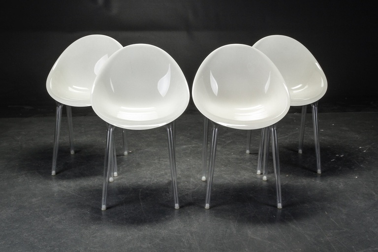 Four Plastic Shell Chairs by British Furniture Manufacturer
