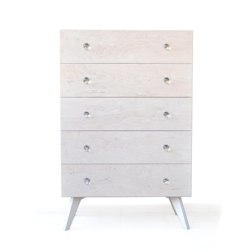 Chest of drawers with glass handles nuotrauka