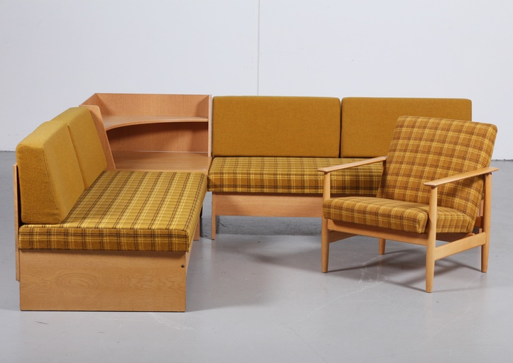 'Swan' corner sofa and Armchair