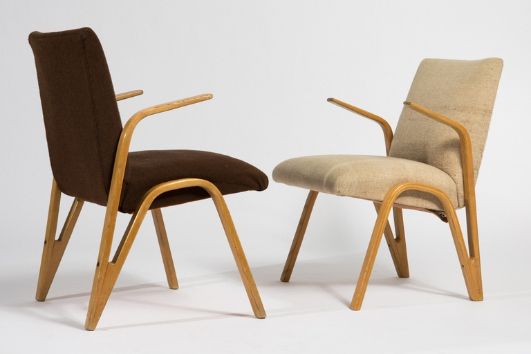 Pair of Armchairs by Paul Bode for the German Spring Wood Company