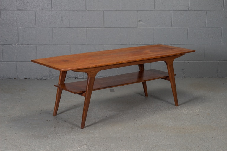 Danish Modern Teak 2 Tier Coffee Table