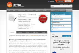 Image of Buy a House with Friends Agreement from Law Central | Review