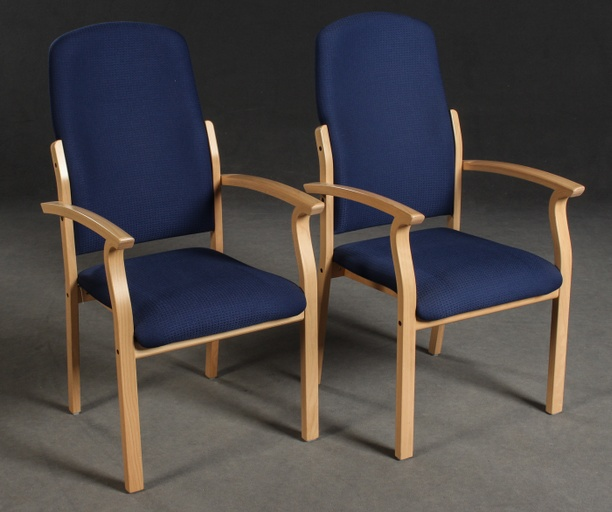 Pair of Opus High Back Armchairs by Brunner for Brunner Werkdesign
