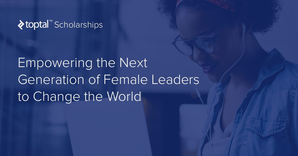 Logo of Toptal Scholarships: Empowering Future Female Leaders