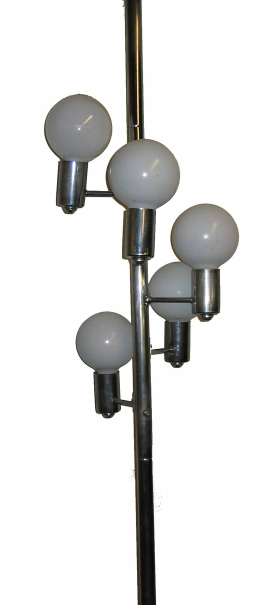 Mid-Century 5-Globe Chrome Lamp