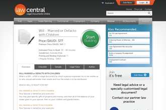 Image of Will - Married or Defacto with Children from Law Central | Review