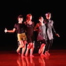 A dance piece performed by a group of students, Photo by John Seyfried