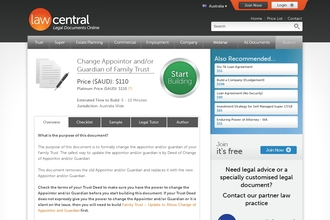 Image of Change Appointor and/or Guardian of Family Trust from Law Central | Review